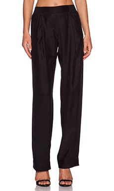 ATM Anthony Thomas Melillo Wide Leg Silk Pant in Black