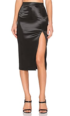 ATM Anthony Thomas Melillo Sparkle Zipper Skirt in Black