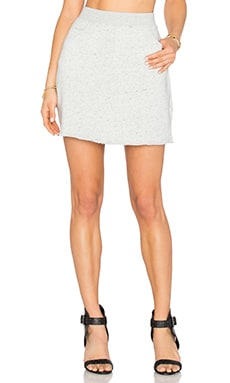 Melange Terry Skirt en Gris Chiné