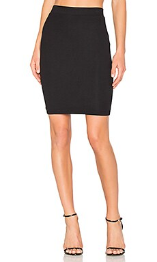 Rib Pencil Skirt en Noir