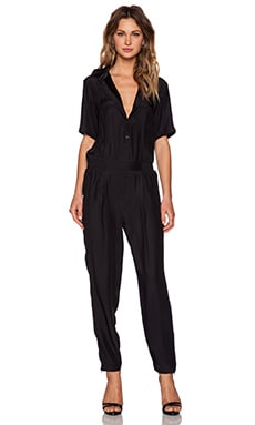 ATM Anthony Thomas Melillo Silk Jumpsuit in Black