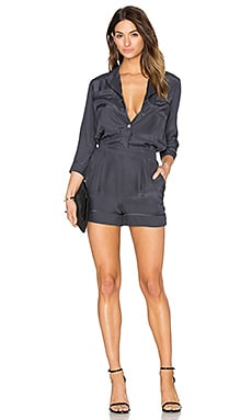 Silk Romper in Urban