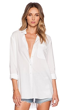 Boyfriend Oversized Dress Shirt en Blanc