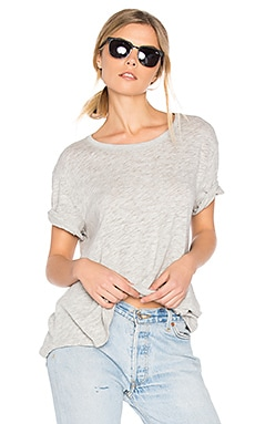 Boyfriend Crew Neck Tee in Heather Grey