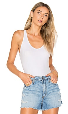 V-neck Tank Bodysuit in White