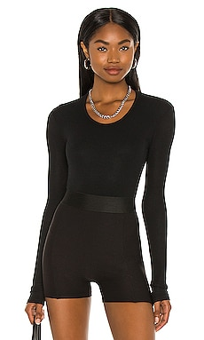 Rib U Neck Bodysuit ATM Anthony Thomas Melillo $225