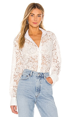 Cotton Lace Straight Shirt ATM Anthony Thomas Melillo $130