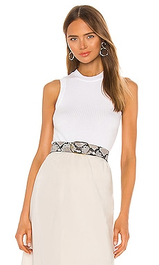 Micro Modal Wide Rib Sleeveless Top ATM Anthony Thomas Melillo $125