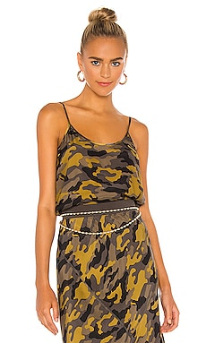Camo Silk Cami ATM Anthony Thomas Melillo $225