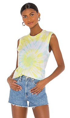 Classic Jersey Sleeveless Tie Dye Muscle Tee ATM Anthony Thomas Melillo $110