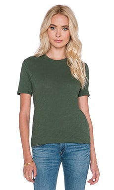 ATM Anthony Thomas Melillo Slub Crew Neck Tee in Moss
