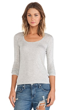 Sweetheart Long Sleeve Tee en Gris Chiné