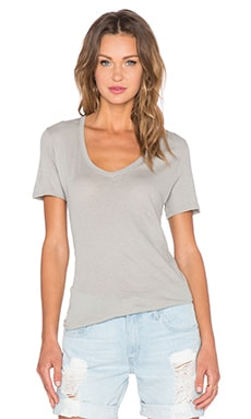 ATM Anthony Thomas Melillo Classic V Neck Tee in Celadon