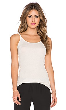 ATM Anthony Thomas Melillo 2x1 Rib Cami in Heather Oatmeal