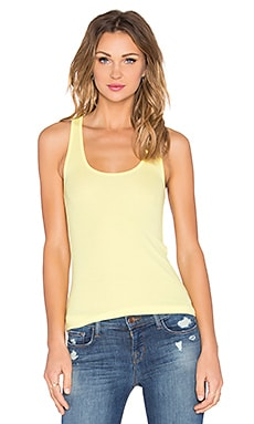 ATM Anthony Thomas Melillo Rib Racerback Tank in Yellow