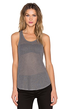 ATM Anthony Thomas Melillo Ribbed Tank in Smoke