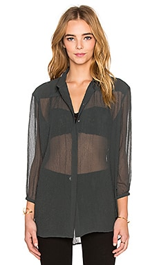 ATM Anthony Thomas Melillo Gathered Yoke Blouse in Evergreen