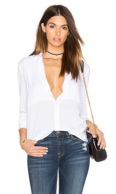 Square Bib Boyfriend Tee in White