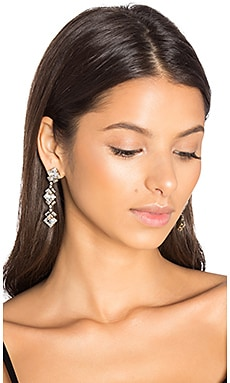 Dylan Drop Earrings en Laiton