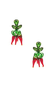Chilli Earrings in Red