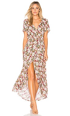Wild Rose Maxi Wrap Dress