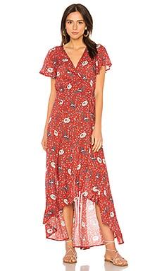Макси-платье с запахом valentina fiesta - AUGUSTE