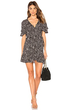 Edie Cascade Wrap Mini Dress AUGUSTE $159