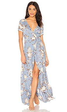 Abigail Wrap Maxi Dress AUGUSTE $189