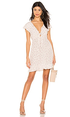 X REVOLVE Jasmine Petal Cutaway Mini Dress AUGUSTE $44 (FINAL SALE)