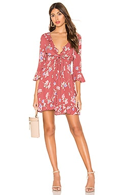 X REVOLVE Rosa Rumba Sleeved Mini Dress AUGUSTE $56