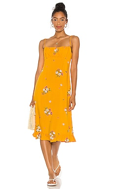 Lotta Davis Midi Dress AUGUSTE $169 BEST SELLER
