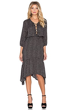 AUGUSTE Nomad Lady Dress in Black Polkadot