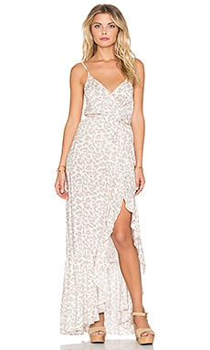 AUGUSTE Willow Strappy Maxi Dress in Pastel Jungle Floral