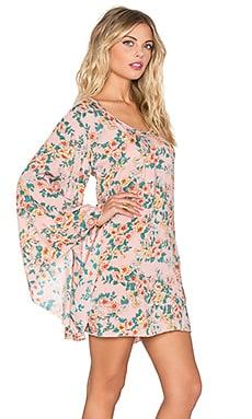 AUGUSTE Bell Sleeved Shift Dress in Musk Boho Blooms Floral