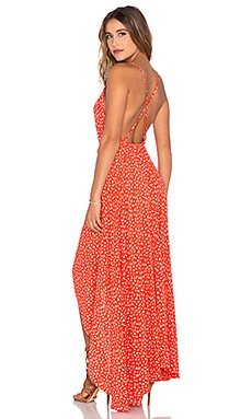 Backless Splash Dress in Red Spanish Caravan