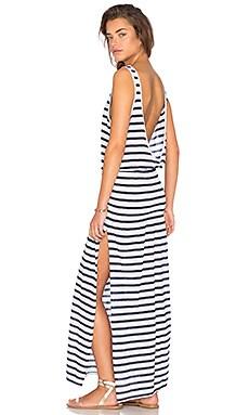 AUGUSTE Effortless Basic Dress in Classic Stripe