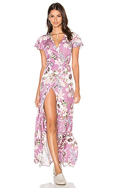 Augustina Wrap Dress en Prune