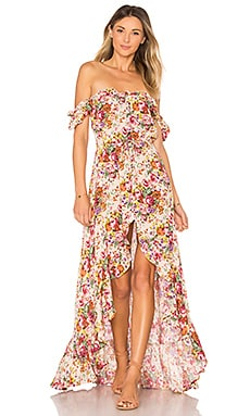 Willow Day Dress in Long Beach Floral Natural