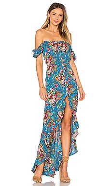 Willow Day Dress in Long Beach Floral Blue