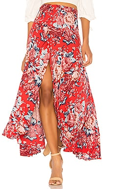 Shirred Waist Maxi Skirt AUGUSTE $149