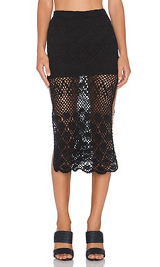 AUGUSTE Midi Skirt in Black