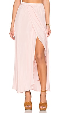 AUGUSTE Hippy Wrap Skirt in Rose Petal Pink