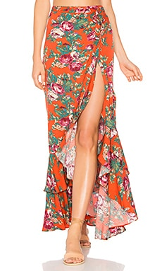 Stevie Frill Wrap Maxi Skirt