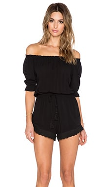 AUGUSTE Aloha Romper in Midnight