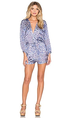 Drifter Shirt Romper in Kaleidoscope Blues