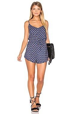 AUGUSTE Darling Romper in Navy