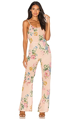 x REVOLVE Havana Nights Backless Splash Flared Jumpsuit
