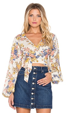Boho Wrap Top in Summer Breeze Floral