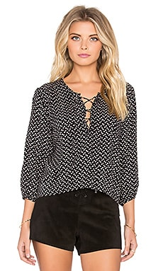 AUGUSTE Nomad Shirt in Black Polkadot