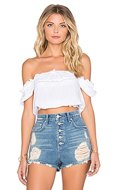 AUGUSTE Boho Baby Crop Top in White